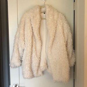 Express White Fuzzy Jacket